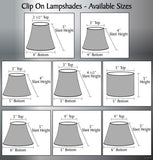 "# 32657-X Hardback Empire ClipOn Lamp Shade Grey 2 1/2""x4""x5"""