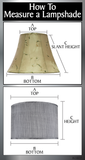 "# 34016 Transitional Bell Shape Spider Construction Lamp Shade in Beige Sateen Fabric, 16"" wide (9"" x 16"" x 12"")"