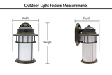 "# 60007-2 1 Light Medium Outdoor Wall Light Fixture with Dusk to Dawn Sensor, Transitional Design in Black, 14 1/4"" High"