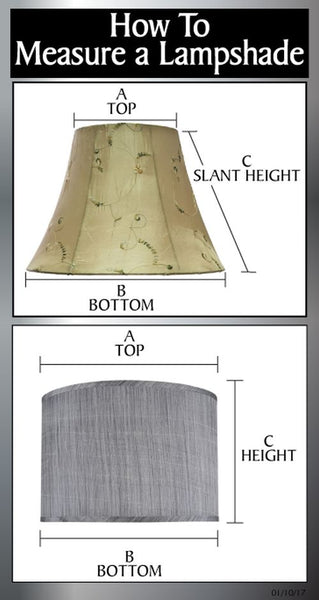 "# 32189 Transitional Hardback Empire Shaped Spider Construction Lamp Shade in Off White, 13"" wide (7"" x 13"" x 9 1/2"")"