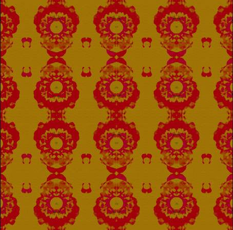 50 - Mustard and Red Mosaic