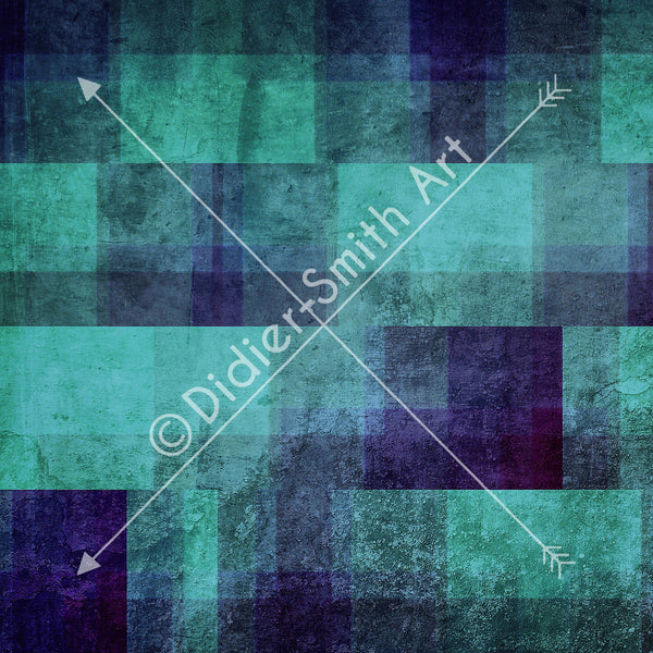 C2472 Blue and green transparent squares