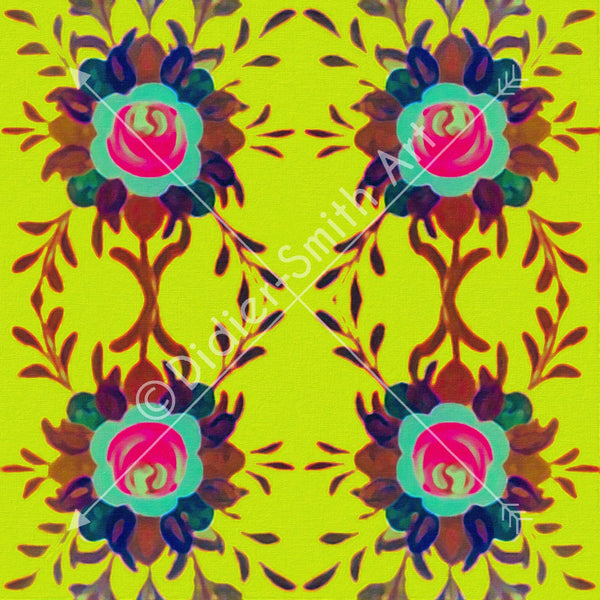 C2518 Yellow floral pattern