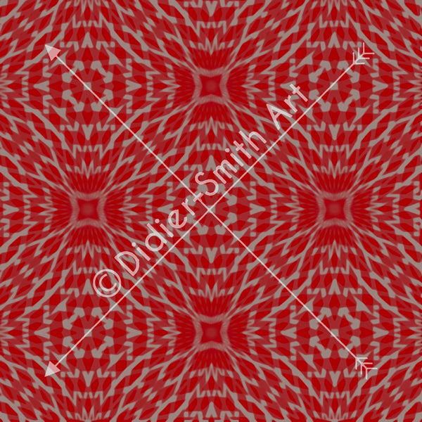 C2623 Red and silver geometric