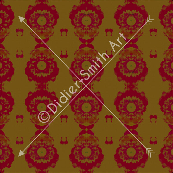 C2825 Red and gold mosaic