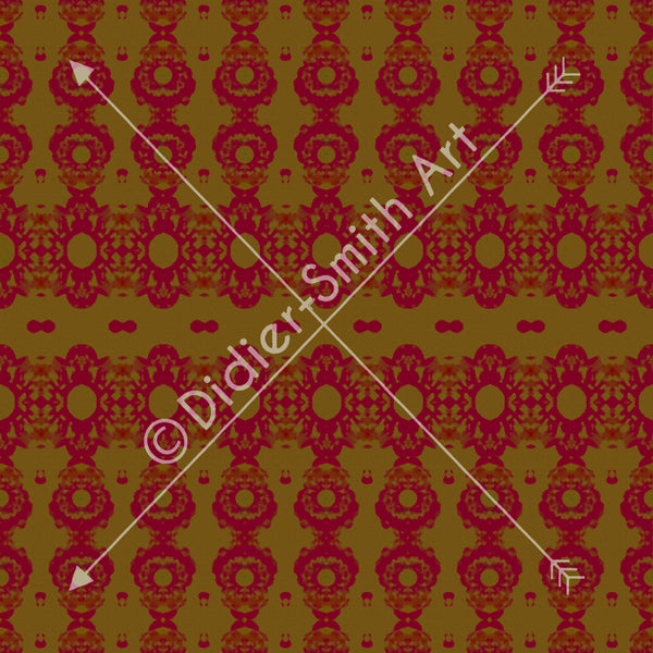 C2828 Red and gold mosaic