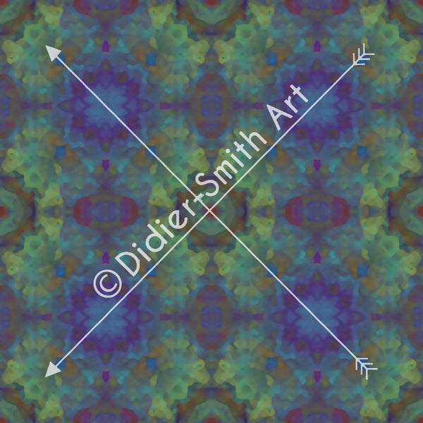 C2873 Blue and green abstract mosaic
