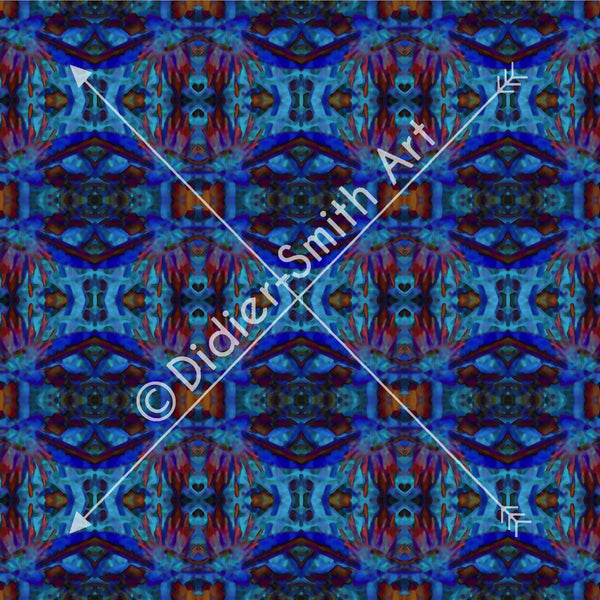 C2889 Multicoloured blue mosaic
