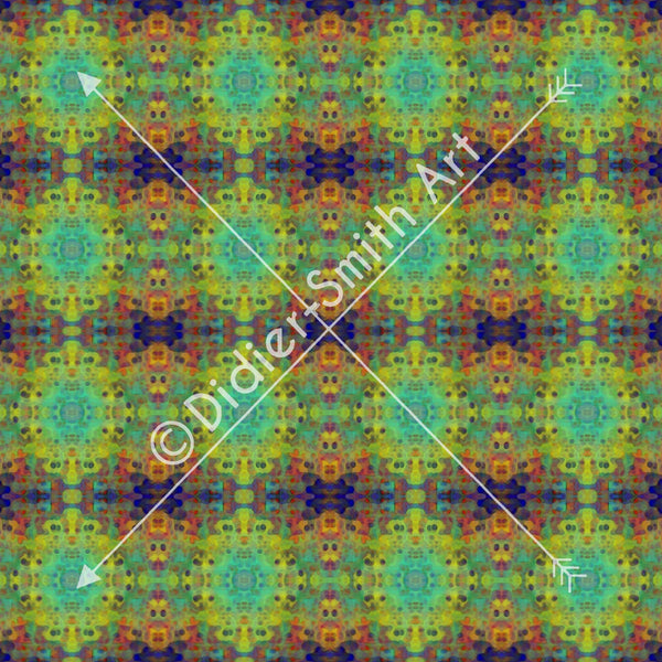 C2897 Blue and green mosaic