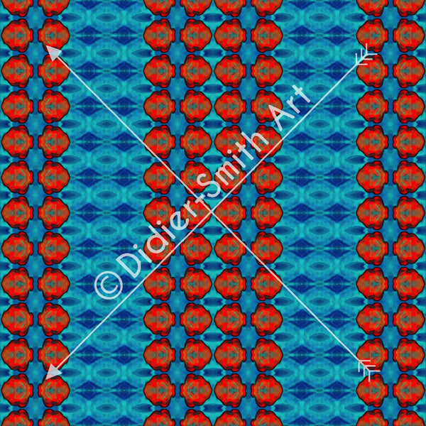 C2901 Blue and red circle mosaic