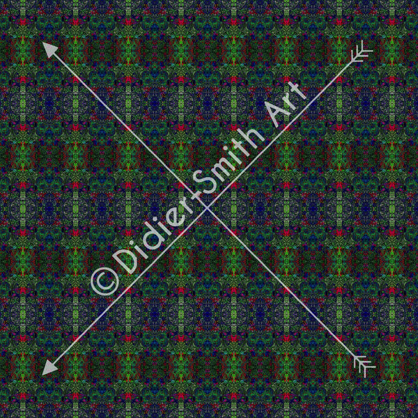 C2943 Blue and green mosaic