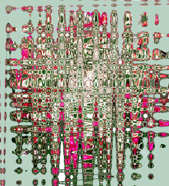 C3168 Pink and green abstract
