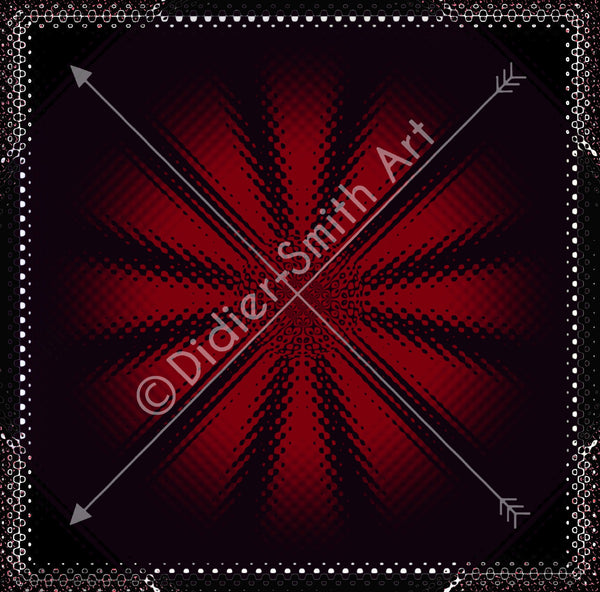 C3197 Red and black abstract