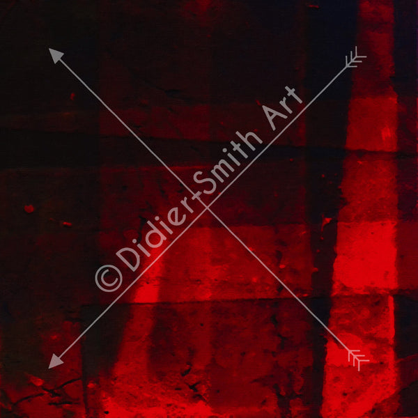 C3219 Red and black abstract