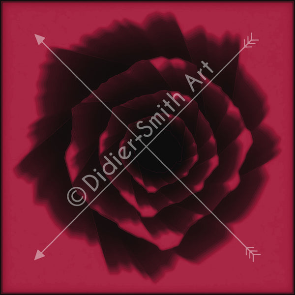 C3239 Pink and black abstract flower