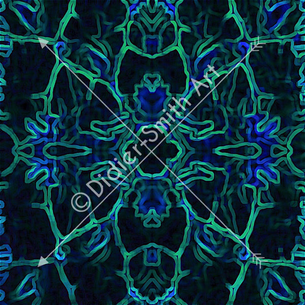 C3332 Blue and green mosaic
