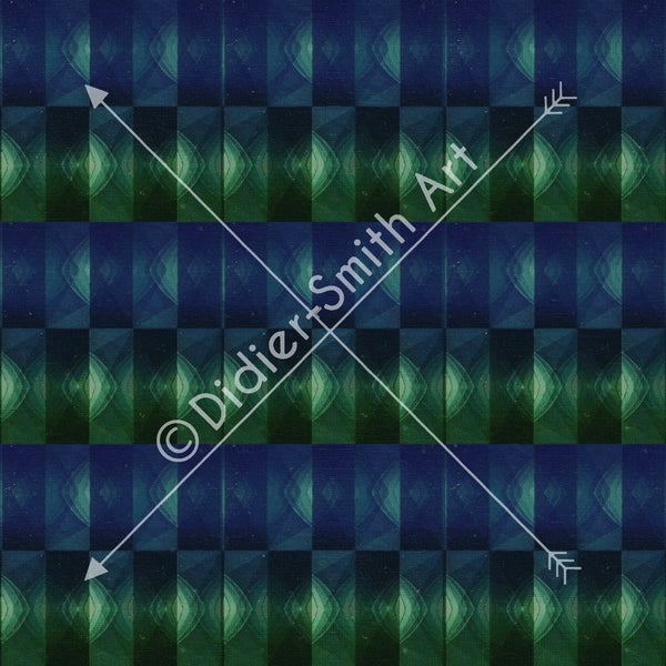 C3342 Blue and green shapes retro