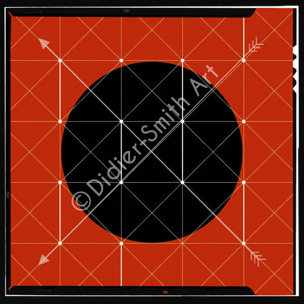 C3387 Red and black geometric