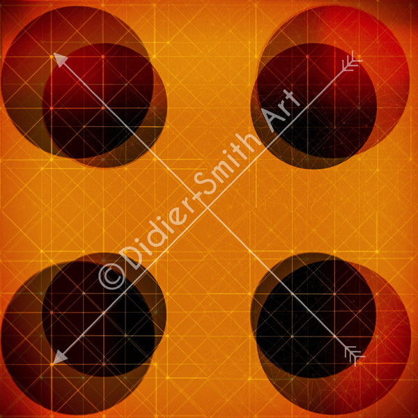 C3393 Orange and red circles