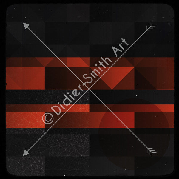 C3395 Red and black geometric