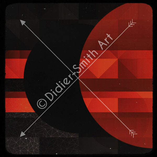 C3402 Red and black geometric