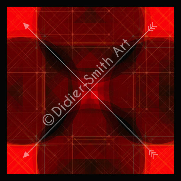 C3428 Red and black geometric