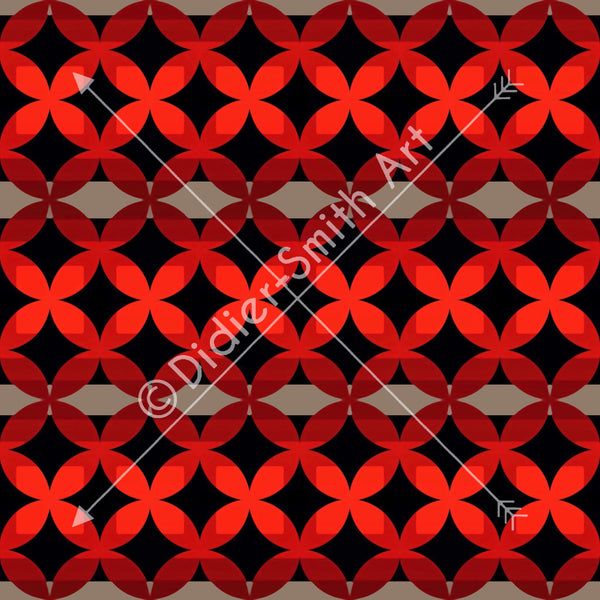 C3430 Red and black geometric
