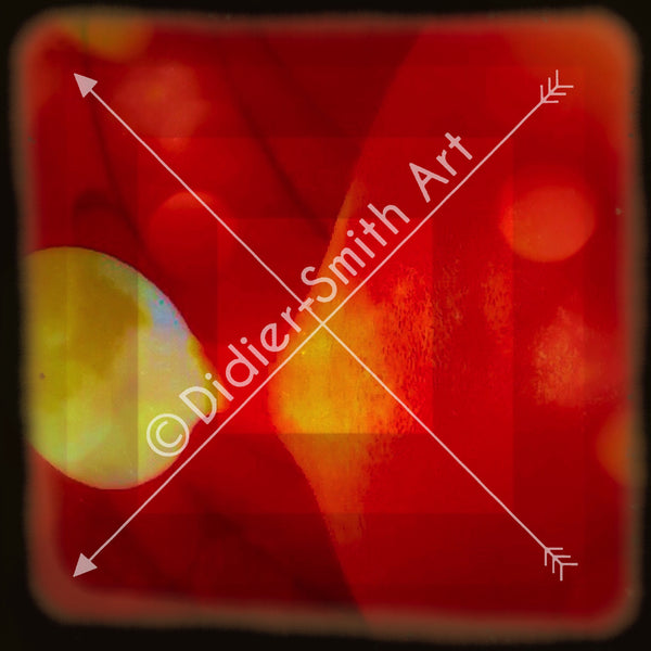C3490 Red and orange abstract