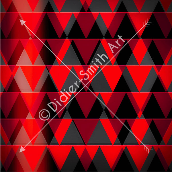 C3496 Red and black triangles