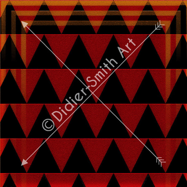 C3499 Red and black triangles