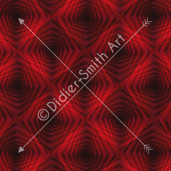 C3541 Red and black geometric roses