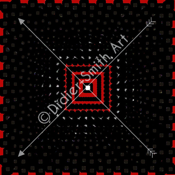 C3548 Red and black geometric
