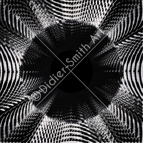 C3570 Black and white circle explosion