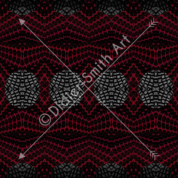 C3584 Red and black abstract
