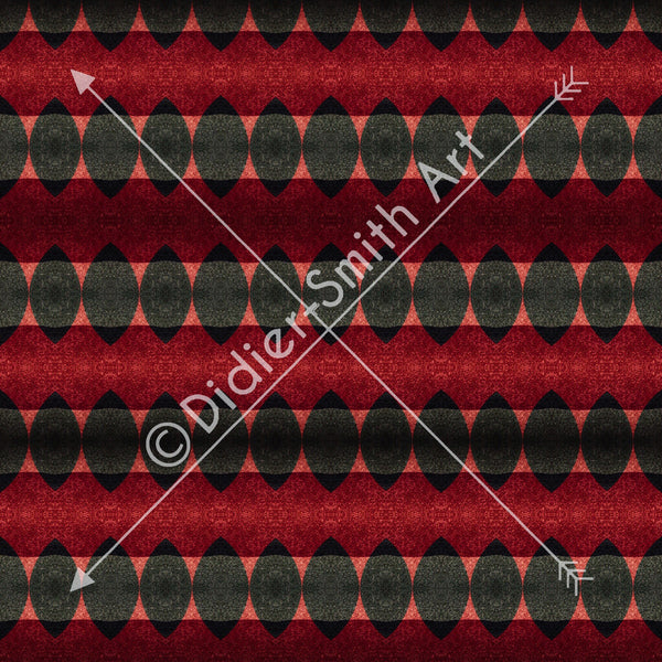 C3721 Red and black geometric