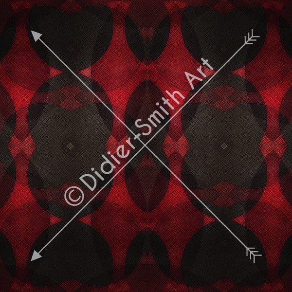 C3722 Red and black geometric