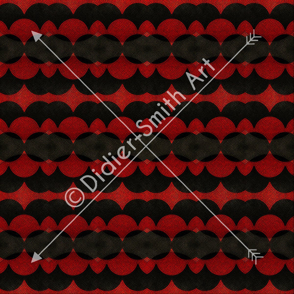 C3724 Red and black geometric