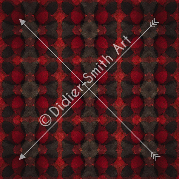 C3727 Red and black geometric