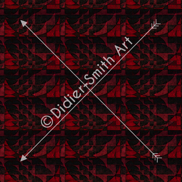 C3729 Red and black geometric