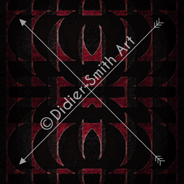 C3730 Red and black geometric