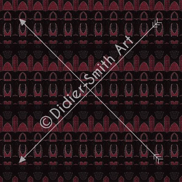 C3731 Red and black geometric
