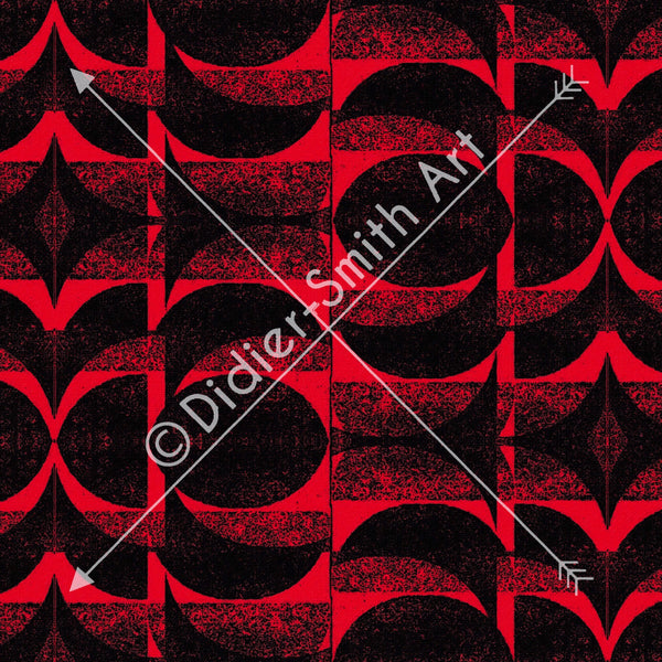 C3732 Red and black geometric