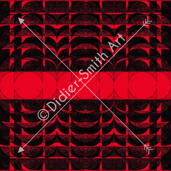 C3733 Red and black geometric