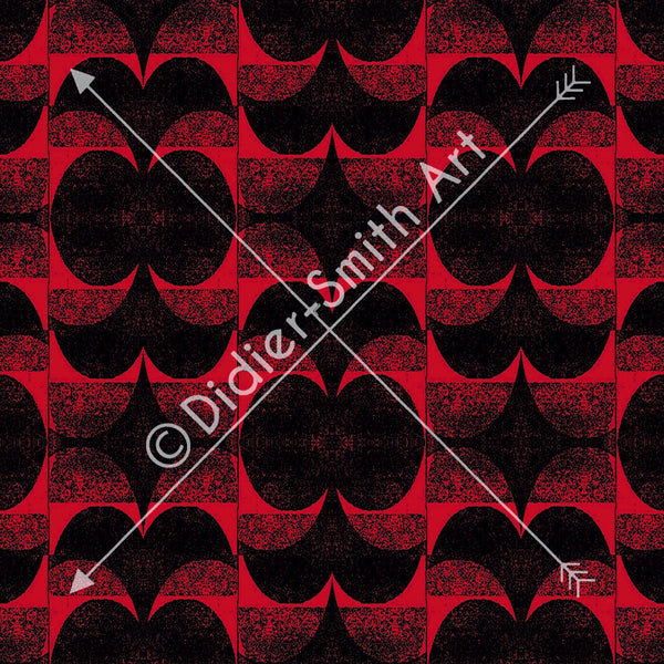 C3739 Red and black retro geometric