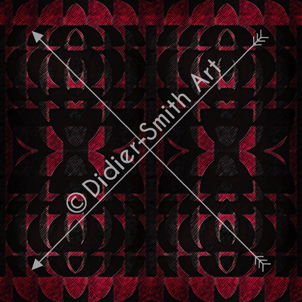 C3742 Red and black retro geometric