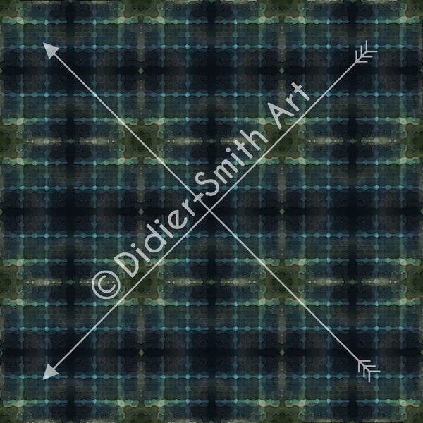 C3760 Blue and green tartan