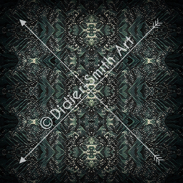 C3788 Black and green geometric