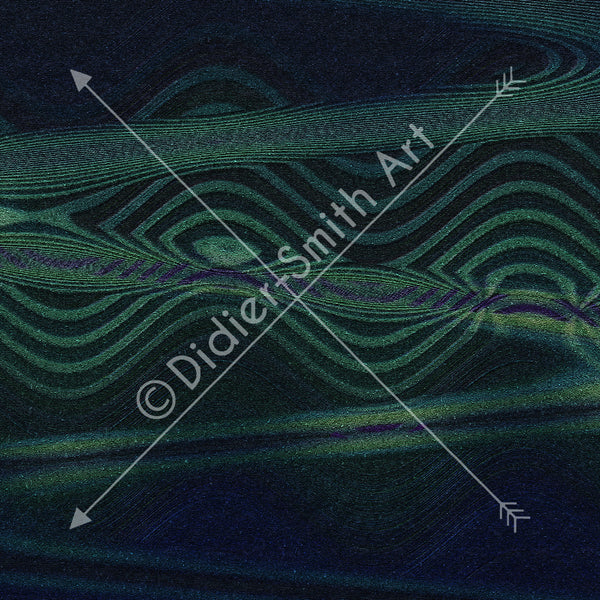 C392 Green abstract waves