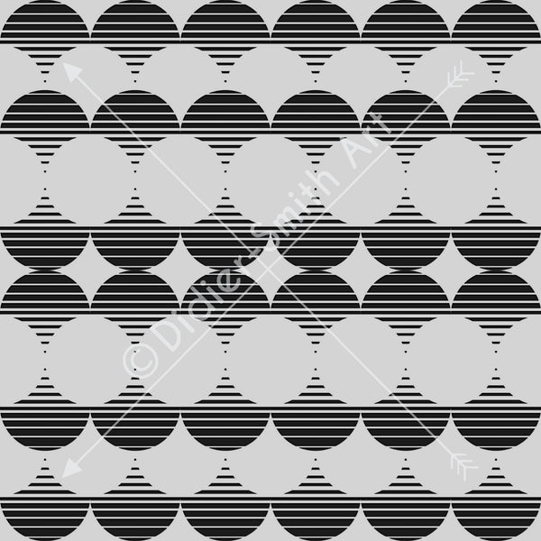 C4117 Black and white geometric