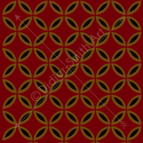 Medieval Pattern Red